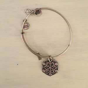 Alex and Ani Silver Snowflake Bracelet